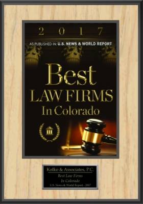 "Kolko & Associates, P.C. – ""2017 Best Law Firms in Colorado"""