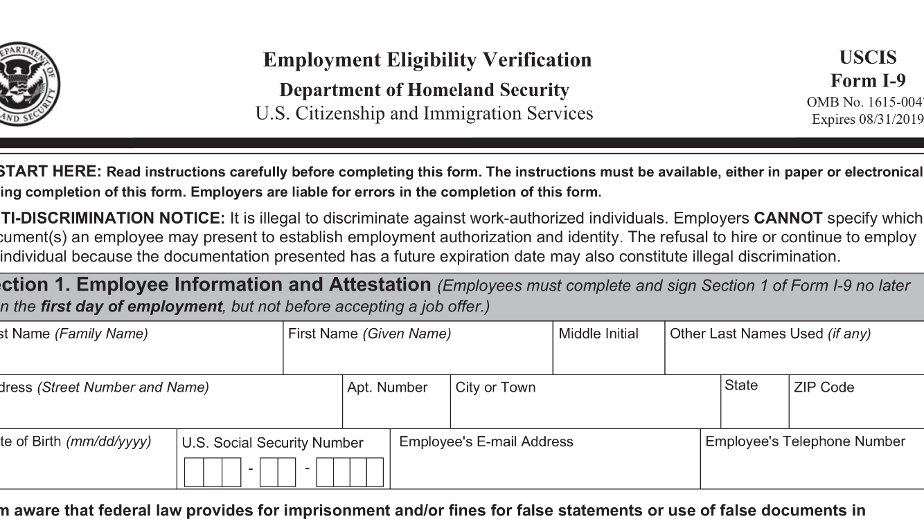 New version of Federal Form I-9 is now mandatory - Immigration and ...