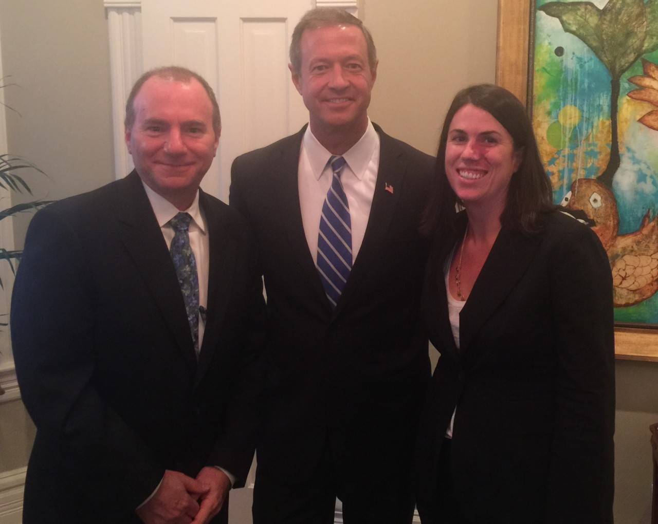 Partners meet with U.S. Presidential Candidate Martin O'Malley