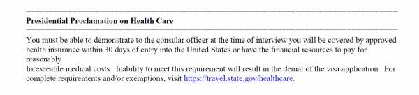 New Health Insurance Requirements for Immigrant Visa Applicants